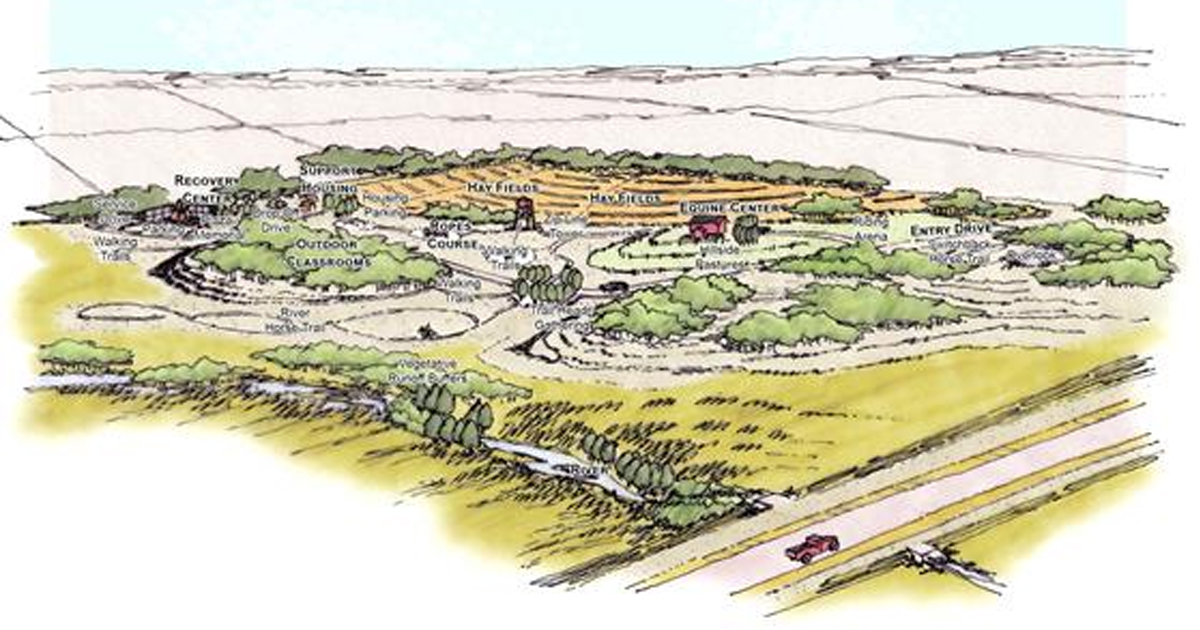 Drawing of park layout
